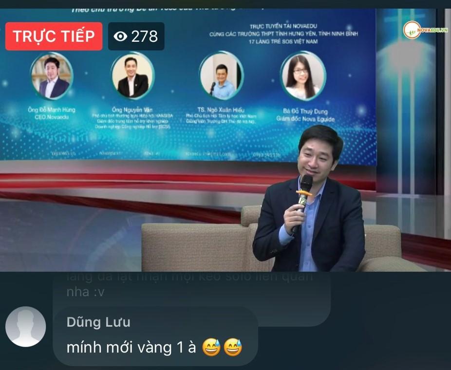 Ông Đỗ Mạnh Hùng - Giám đốc công ty Novaedu chia sẻ tại chương trình